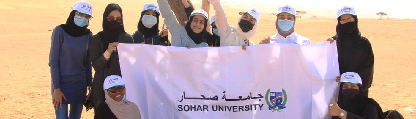 Sohar University graduates on a camping trip with Outward Bound Oman